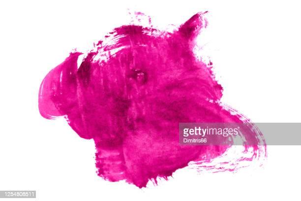 手描きの水彩色の汚れ。 - ショッキングピンク点のイラスト素材/クリップアート素材/マンガ素材/アイコン素材