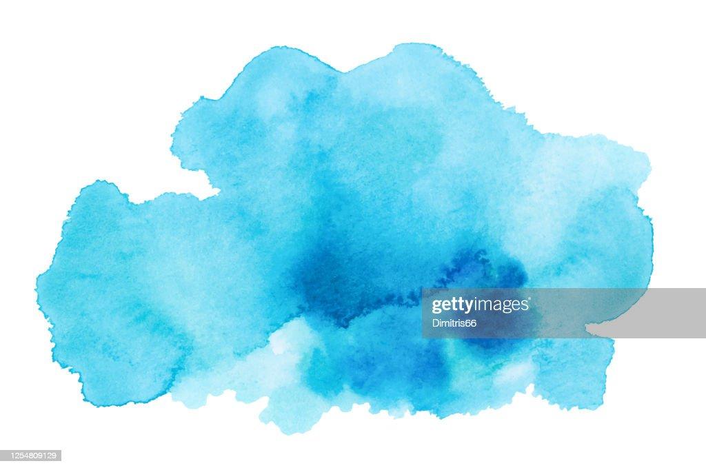 Hand gezeichnet Aquarell Fleck. : Stock-Illustration