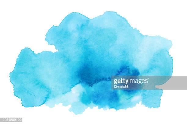 hand gezeichnet aquarell fleck. - gouache stock-grafiken, -clipart, -cartoons und -symbole