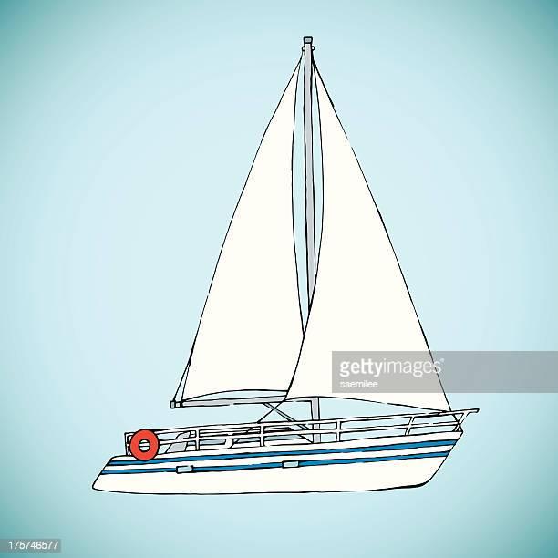 Hand Drawn Yacht