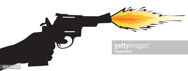 60点の銃 構えるのイラスト素材 クリップアート素材 マンガ素材