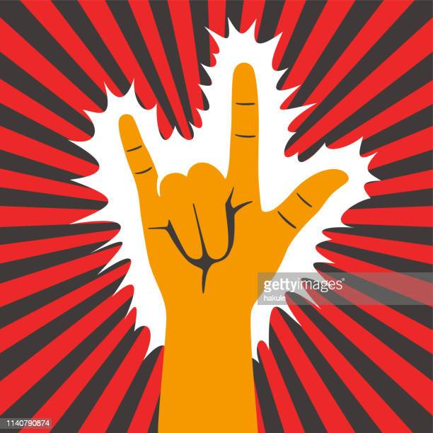 hand gesticulate symbol, vector illusatration - grimes musician stock illustrations