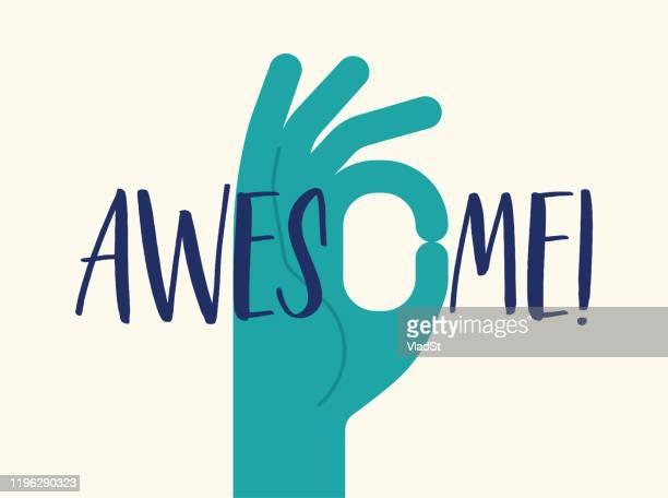 hand gesture compliment awesome awe teamwork good job meme - ok sign stock illustrations