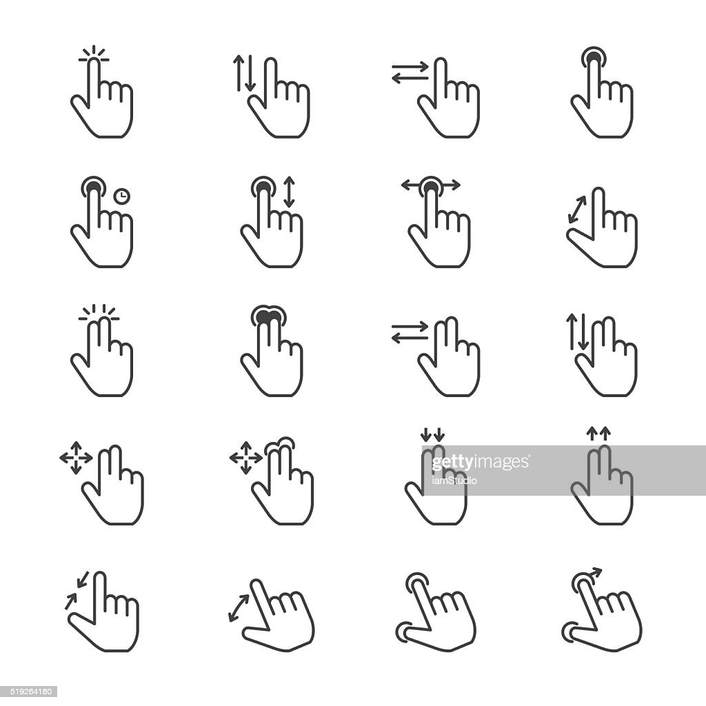 Hand Gesture Icons Line