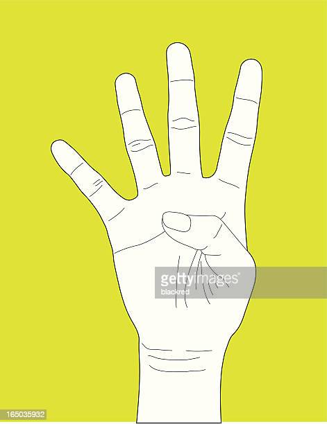 Hand Gesture Number Four