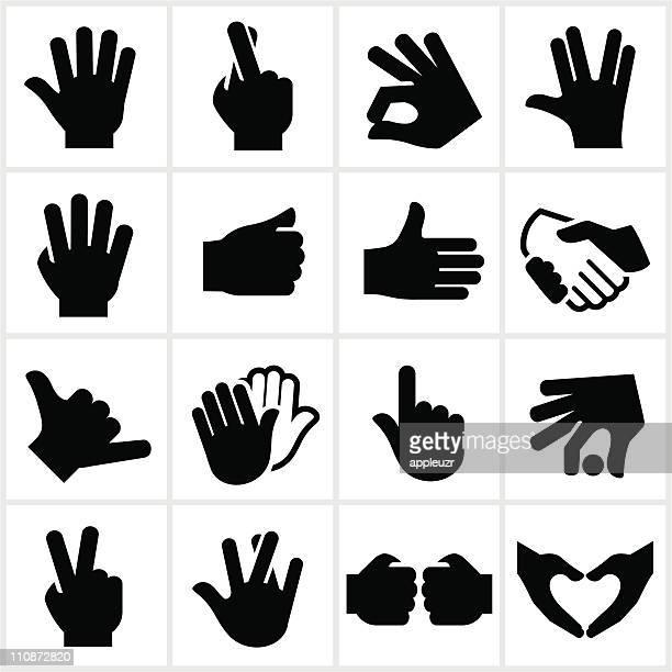 hand geste symbole - gestikulieren stock-grafiken, -clipart, -cartoons und -symbole