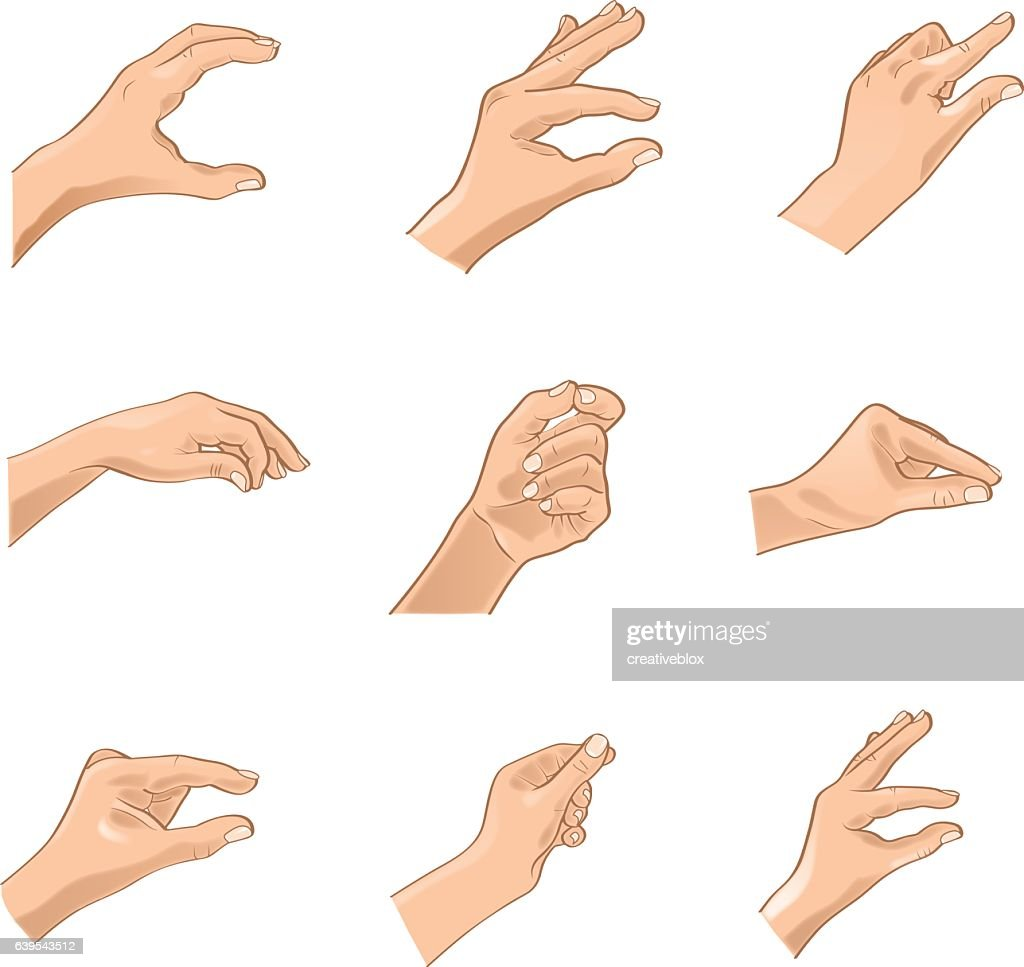 Hand Gestures -Adjustable Illustration (Vector)