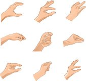Hand Gestures -Adjustable Illustration (Vector)