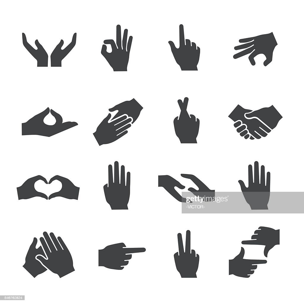 Hand Gestures Icons - Acme Series : Stock-Illustration