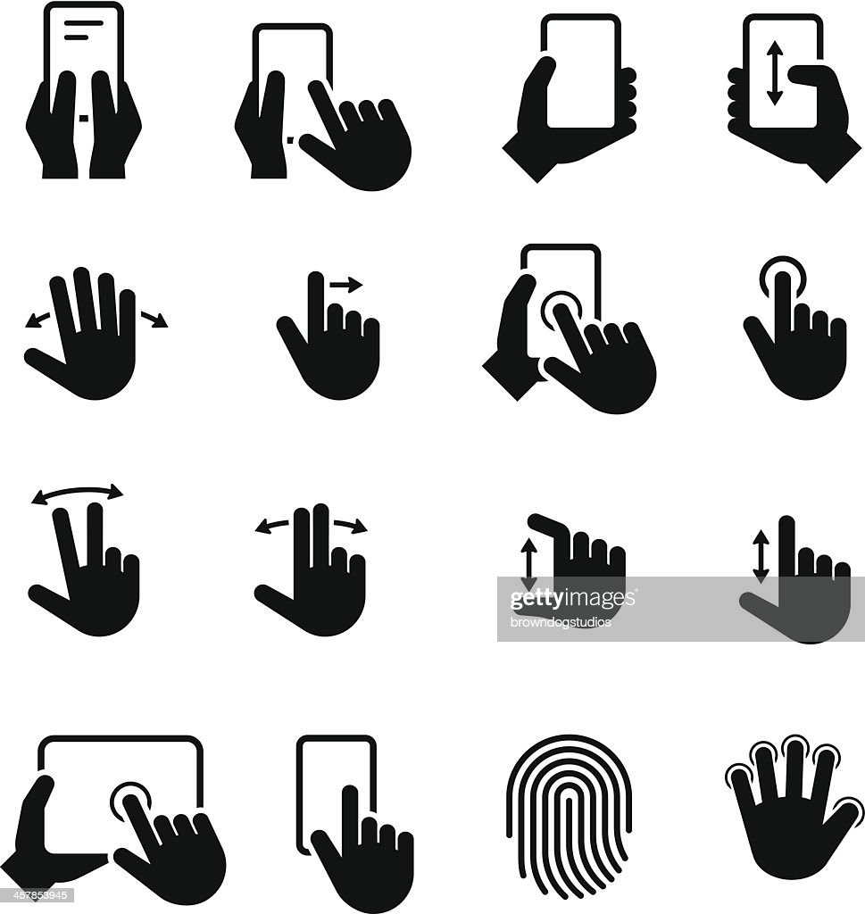 Hand Gestures Icons - Black Series
