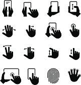 Hand Gestures Icons - Black Series