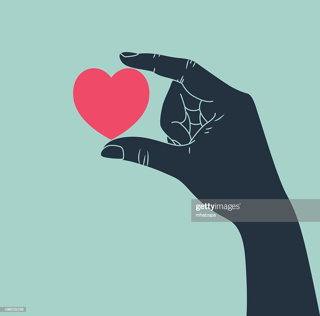 hand giving love symbol