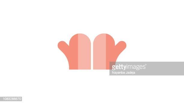 ilustraciones, imágenes clip art, dibujos animados e iconos de stock de guantes de la mano para cocinar - guantes de portero