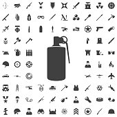 hand grenade explosive icon