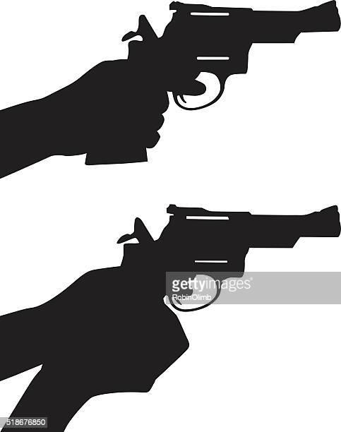 Hand Gun Silhouettes