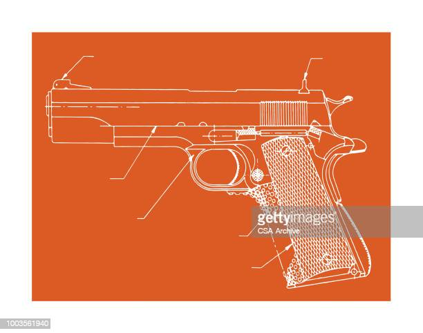 hand gun - handgun stock illustrations