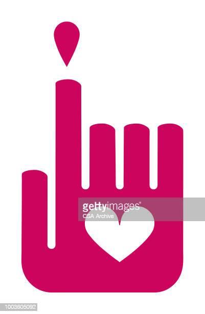 手の心ドロップ - heart shape点のイラスト素材/クリップアート素材/マンガ素材/アイコン素材