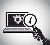 hand hold search computer check security