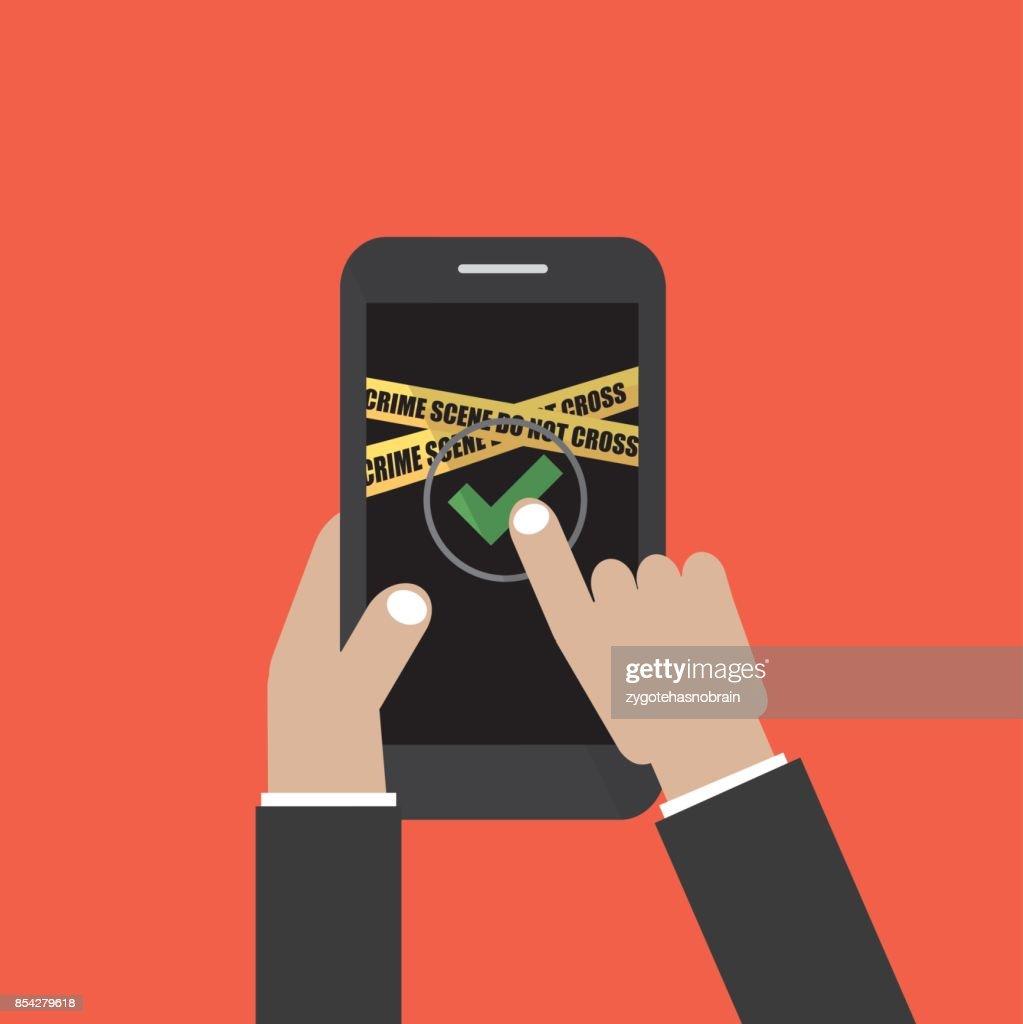 Hand Halten Smartphone Mit Benutzerloginformularseite Und Anmelden ...