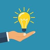Hand holding business idea
