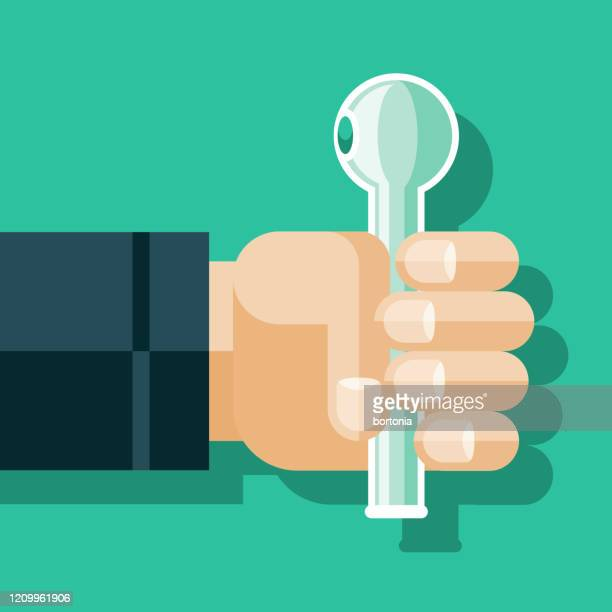 hand holding crack pipe - crack pipe stock illustrations