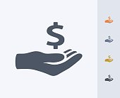 Hand Holding Dollar Sign - Carbon Icons
