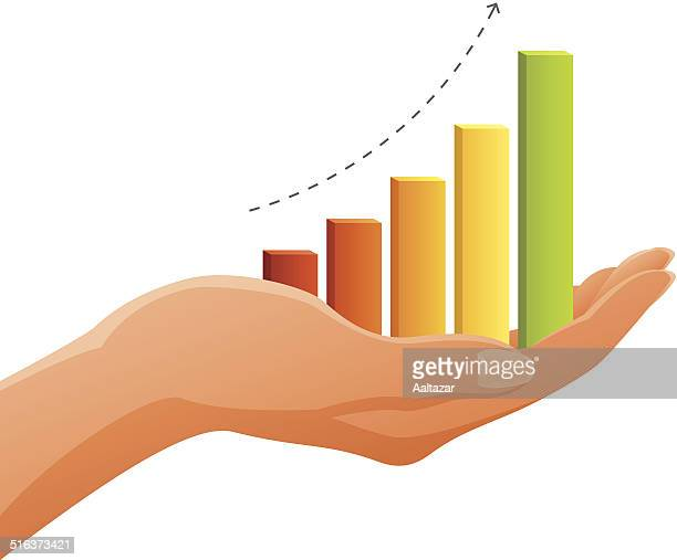 Hand Holding Graph