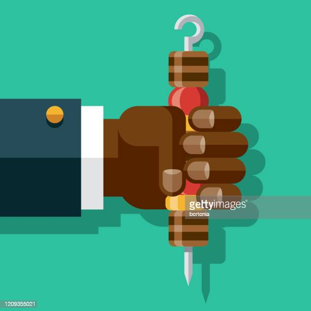 hand holding kebab - marrom stock illustrations