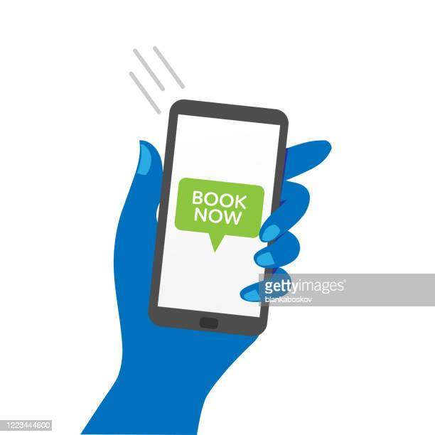 本を今すぐメッセージを表示する手持ちスマートフォン - 通知アイコン点のイラスト素材/クリップアート素材/マンガ素材/アイコン素材