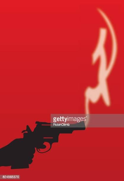 hand, die smoking gun - rätsel stock-grafiken, -clipart, -cartoons und -symbole
