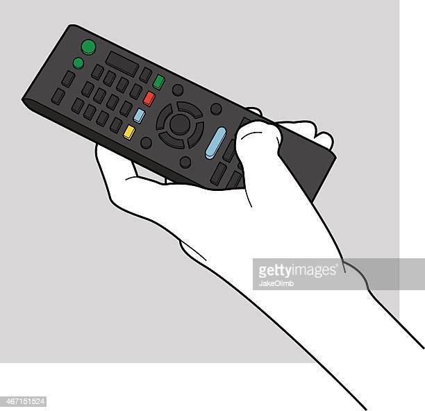 Main tenant la télécommande de la ligne Art