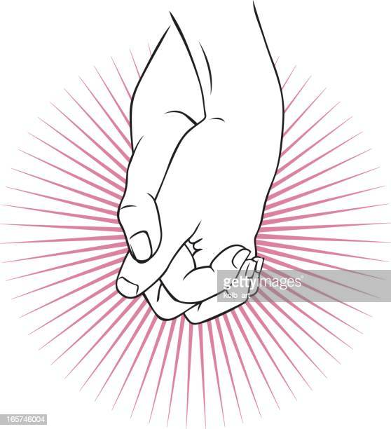 hand holding - homosexual couple stock illustrations