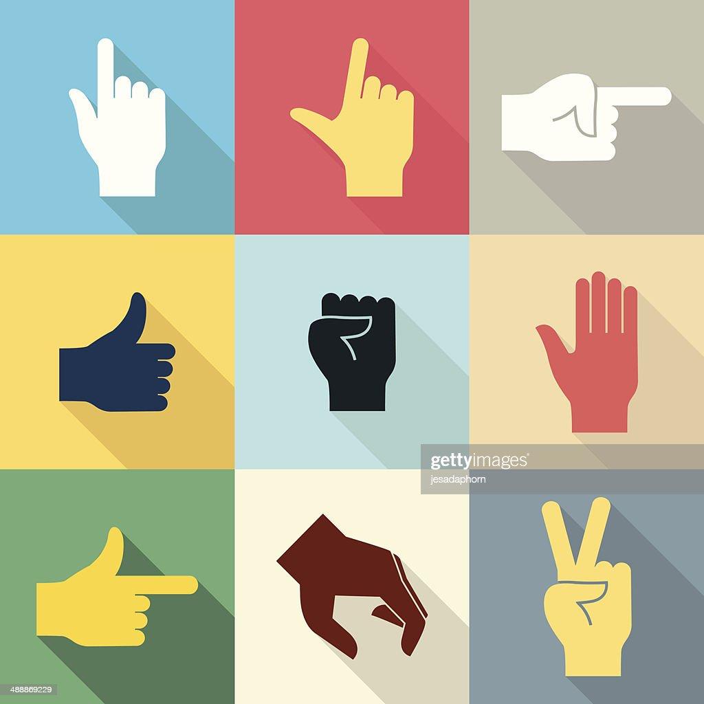 Hand icon set 2