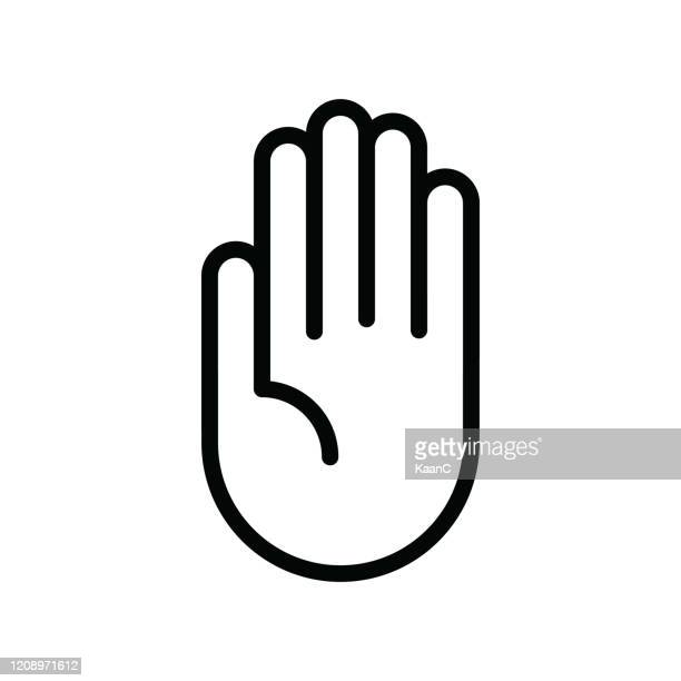 hand icon vector, filled flat sign, solid pictogram isolated on white, logo illustration - stop sign stock illustrations