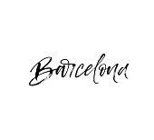 Hand lettering Barcelona.