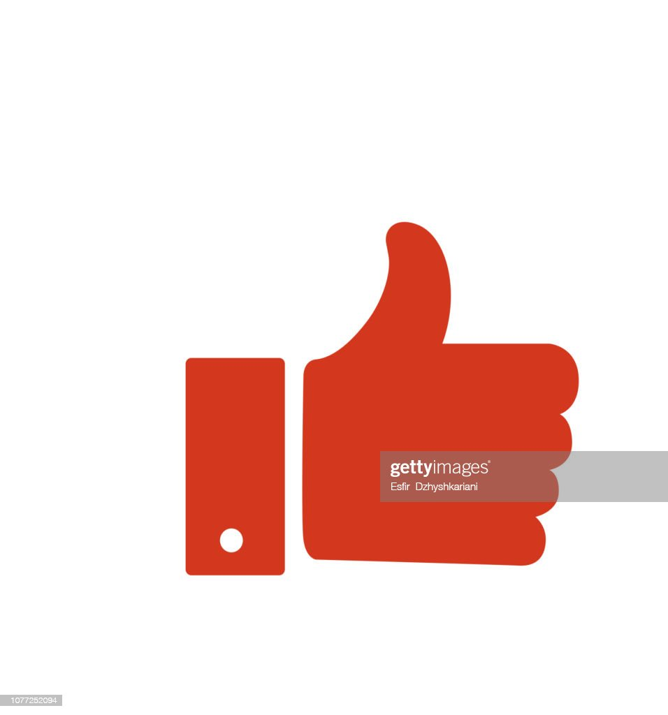 Hand like flat icon vector illustration isolated on white