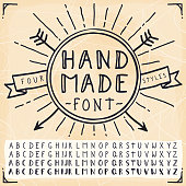4 Hand Made Fonts