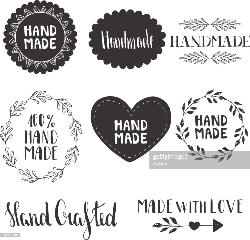 Hand made labels. Vector. Hand drawn.
