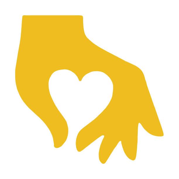 hand making heart - heart shape stock illustrations