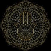 Hand of Fatima with Mandala
