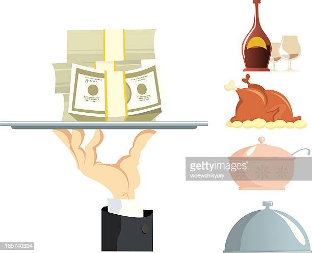 Hand of the Waiter with a tray