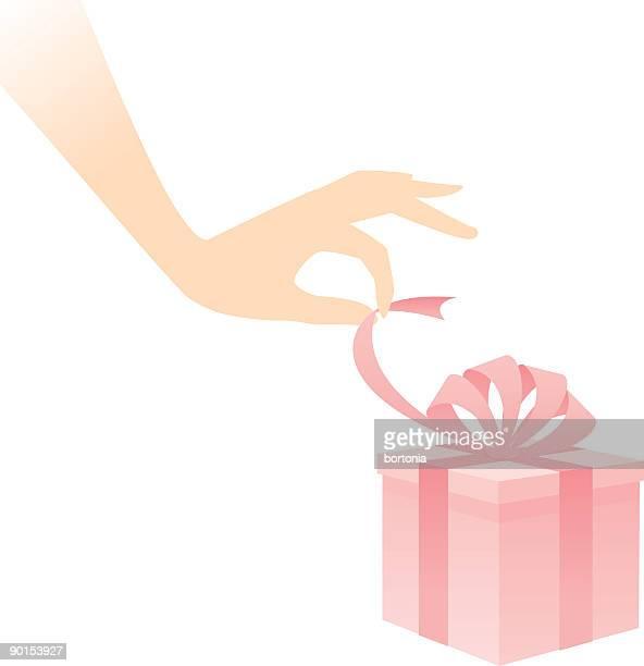 Main ouverture des cadeaux