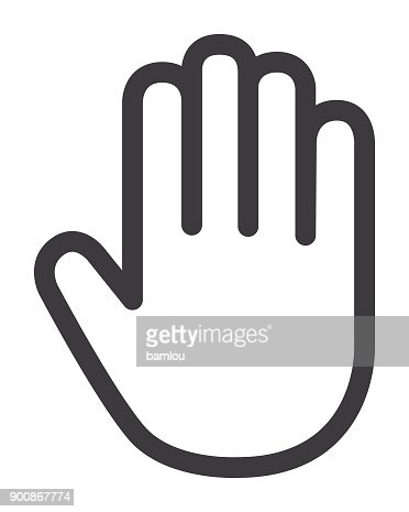 1 204 Stop Gesture High Res Illustrations Getty Images