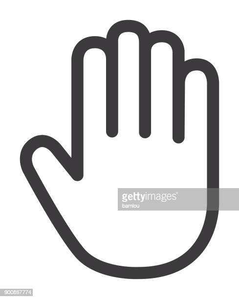 hand palm icon - hand stock illustrations