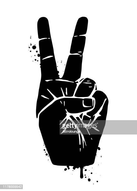 hand peace sign - symbols of peace stock illustrations