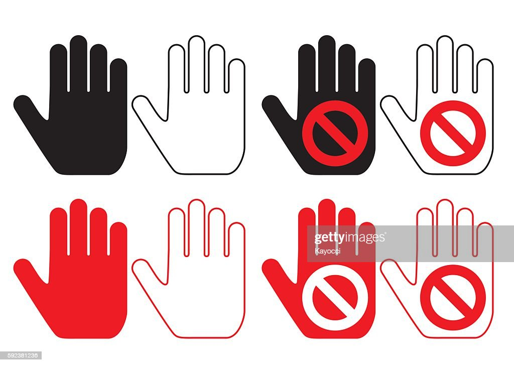 hand pictogram set