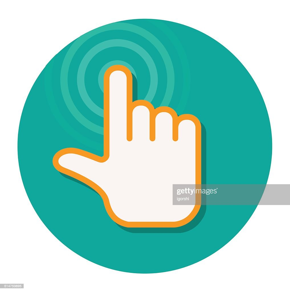 hand pointer cursor flat icon