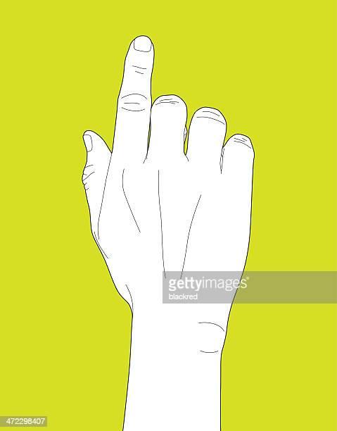 ilustrações de stock, clip art, desenhos animados e ícones de mão a apontar - dedoindicador