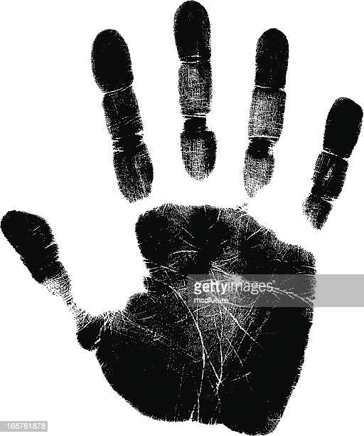hand print - human hand stock illustrations