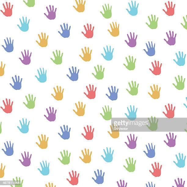 ilustraciones, imágenes clip art, dibujos animados e iconos de stock de impresiones de mano - huella de mano